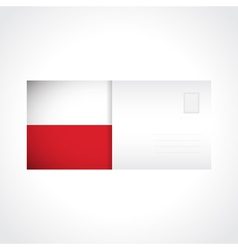 Envelope with polish flag card vector