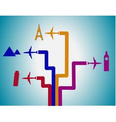 Flight destination vector