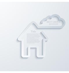 Modern real estate background vector