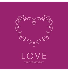 Heart frame - love design for valentines day logo vector