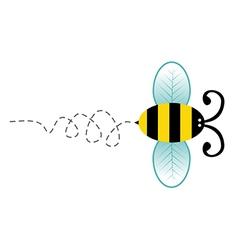 Cute bee cartoon character vector