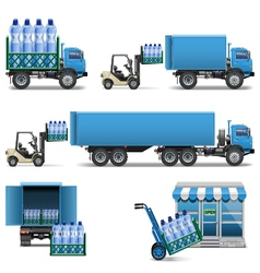 Mineral water shipping vector