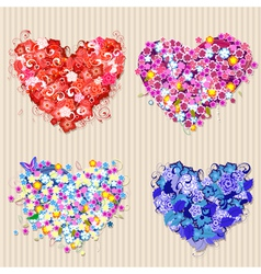 Floral vintage valentines vector