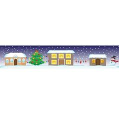 Seamless christmas street vector