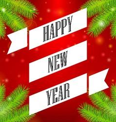 Ribbon happy new year vector