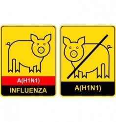 Swine flu warning vector