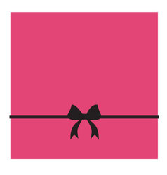 Pink box and black bow vector