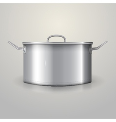 Aluminum saucepan vector