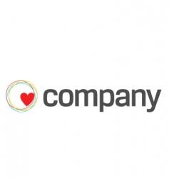 Heart care charity logo vector