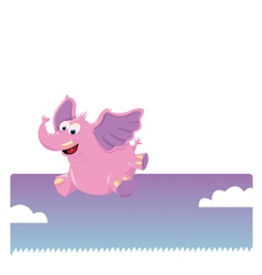 Funny jumping elephant vector