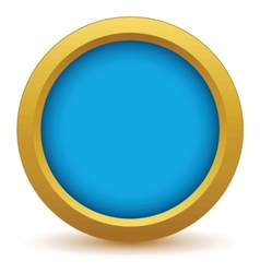 Gold empty icon vector