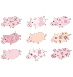 Cute piglets vector