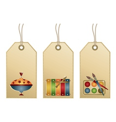 Tags with toys vector