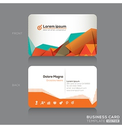 Modern abstract business cards design template vector