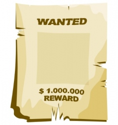 Wanted vector