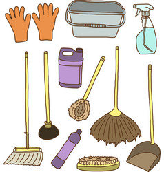 Cleaning items vector