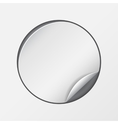 Blank white round promotional sticker vector