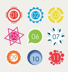 Set of number in variety shape vector