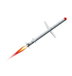 Flying cruise missile on a white background vector