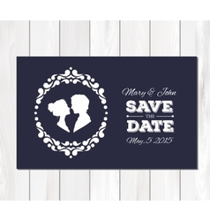 Save the date wedding invitation with vector
