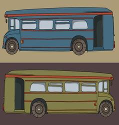 Cartoon bus cute design drawing vector