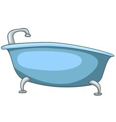 Cartoon home washroom tub vector