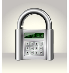 Opened padlock with digital interface vector