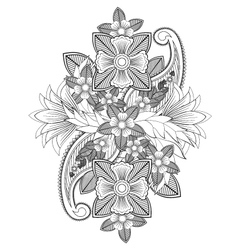Indian flowers vector
