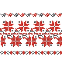 Bulgarian embroidery design elements vector