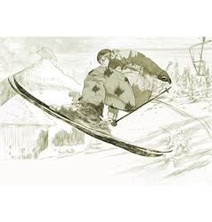 Trick skiing vector