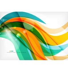 Green orange yellow colors shiny line concept vector