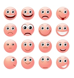 Pink emoticons vector