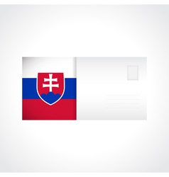 Envelope with slovak flag card vector