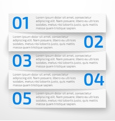 Modern white infographic business options banner vector