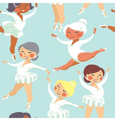 Ballet seamless pattern vector
