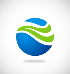 Ecology water globe abstract logo vector