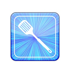 Version slotted kitchen spoon icon eps 10 vector
