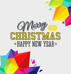 Christmas background with bright triangle elements vector