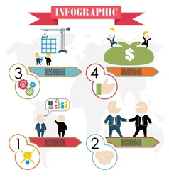 Business plan concept steps infographics flat vector