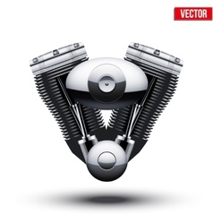 Retro motorcycle engine vector