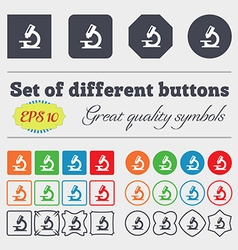 Microscope icon sign big set of colorful diverse vector