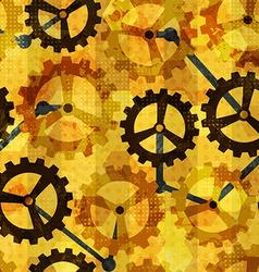 Steampunk cogwheel grunge seamless vector