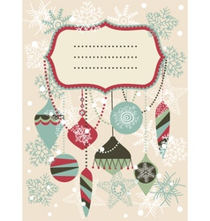 Vintage christmas invitation vector