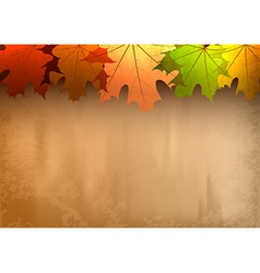 Background autumn big top leaves vector
