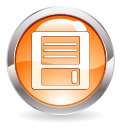 Gloss button with floppy disk vector