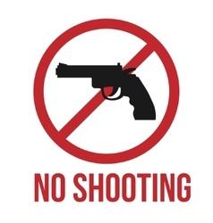 No shooting icon vector