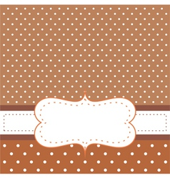 Brown card or invitation vector