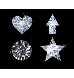 Diamond symbols vector