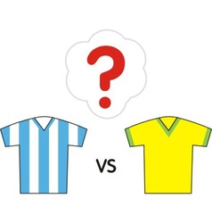 Sport argentina brazil vector