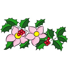 Christmas bouquet vector